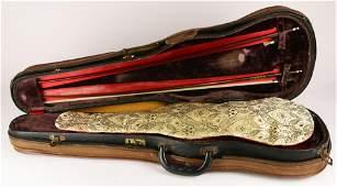 A full size antique violin labelled Joseph Naldotti