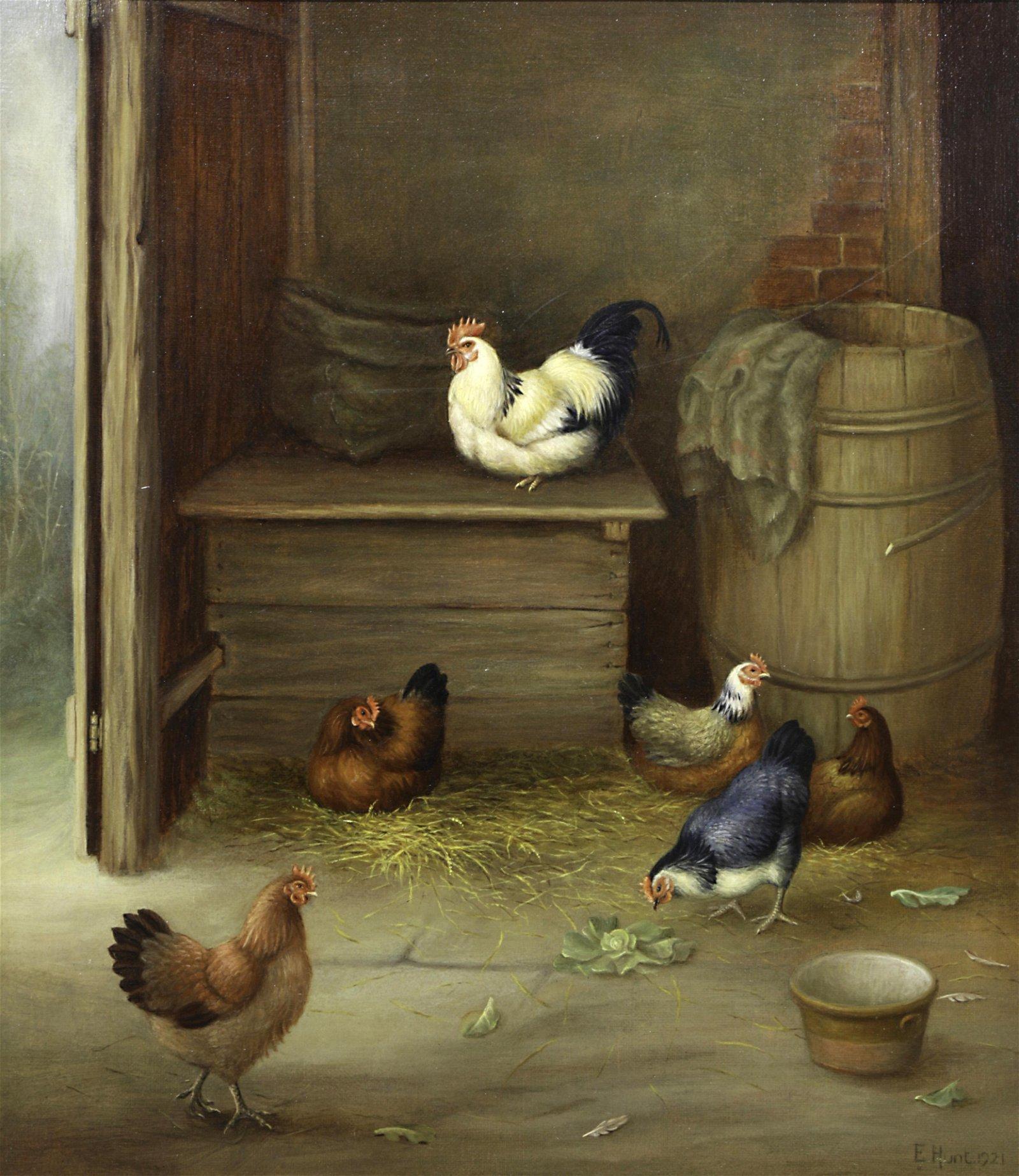Painting, Edgar Hunt