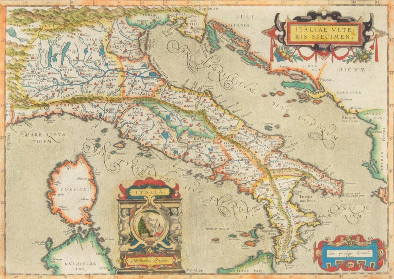 Map, Abraham Ortelius