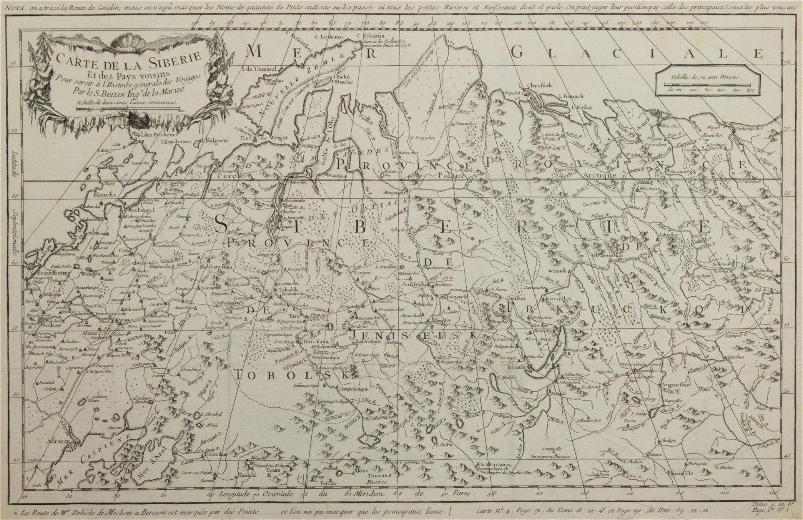 Map, Jacques-Nicolas Bellin