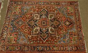 A semi antique Persian Heriz carpet