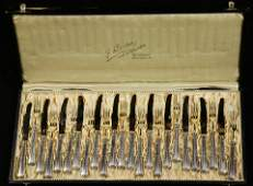 lot of 24 A German gilt wash silver plated fruit