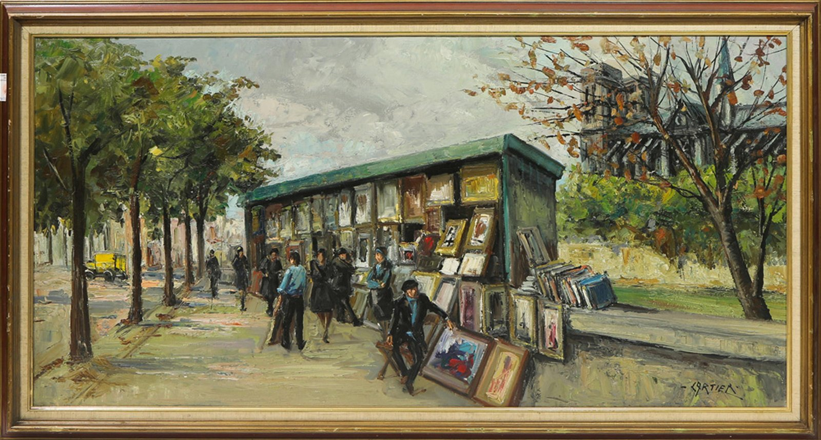 Painting, Along the Seine
