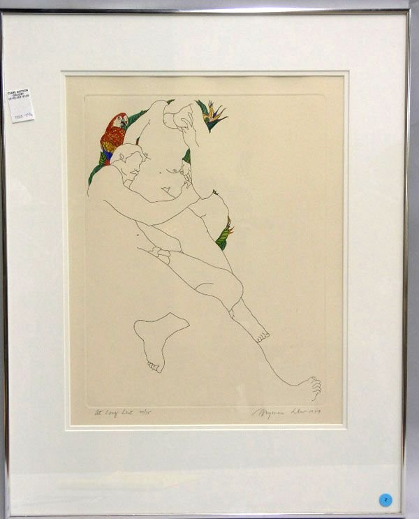 3: Framed drawing, Weyman Lew