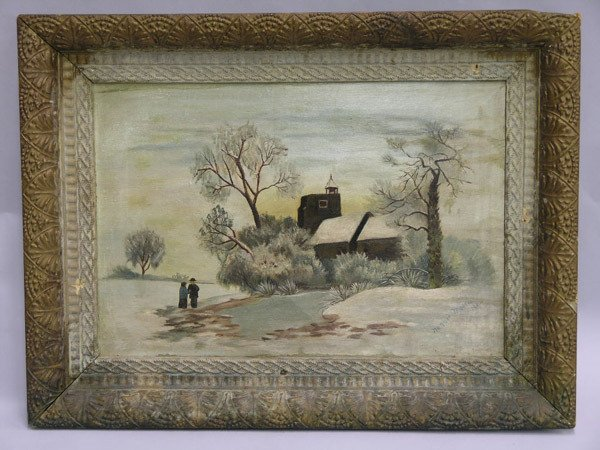 4: Nannie Moore, Primitive Snow Scene