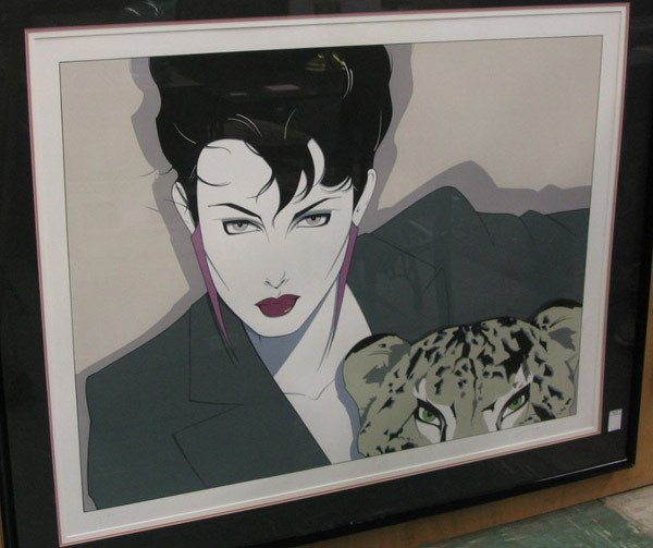 152: Silkscreen of Cheetah by Patrick Nagel