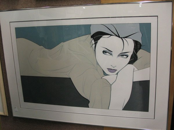 153: Framed silkscreen by Patrick Nagel