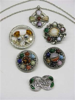 Scottish Jewelry Brooches and Pendant