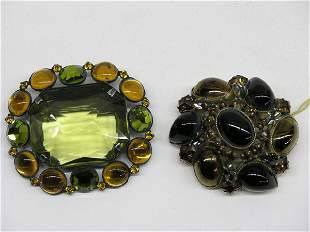 Caivness and Schriener Brooches