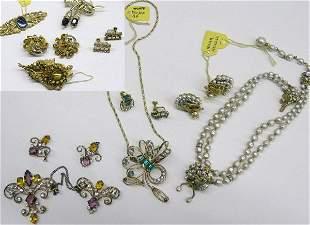 Haskell, Schiaparelli, Coro Costume Jewelry