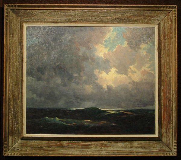 Oil painting, mann. George K. Brandriff