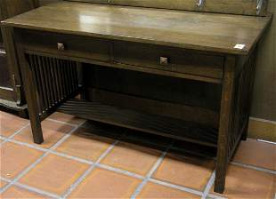 Arts & Crafts style library table