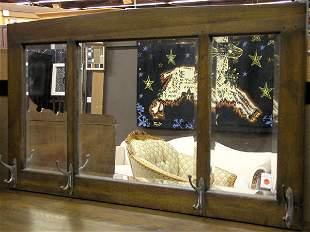 Mission style hall mirror
