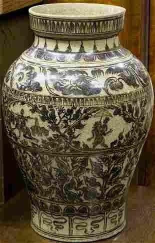 Thai Style decorated vase