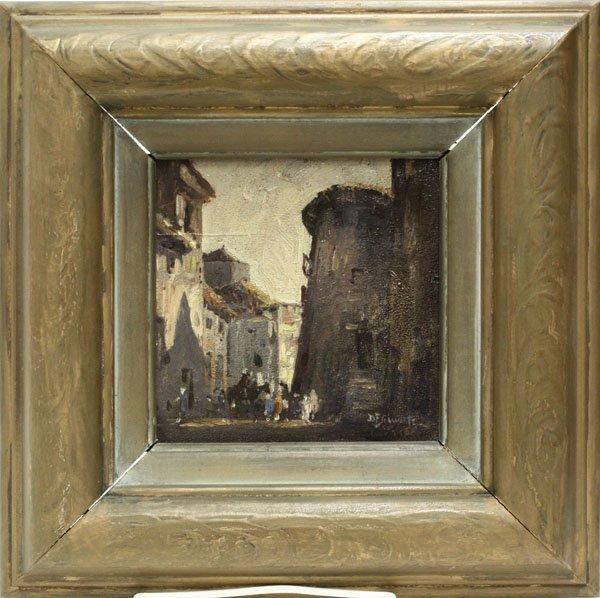 1: painting Davis F. Schwartz Market Scene