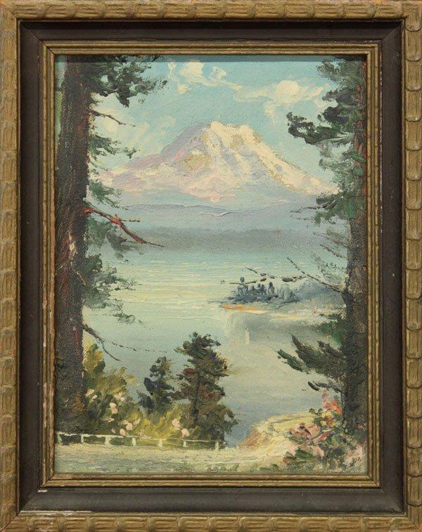 4: paintings, Landscape, F.M. Holmes