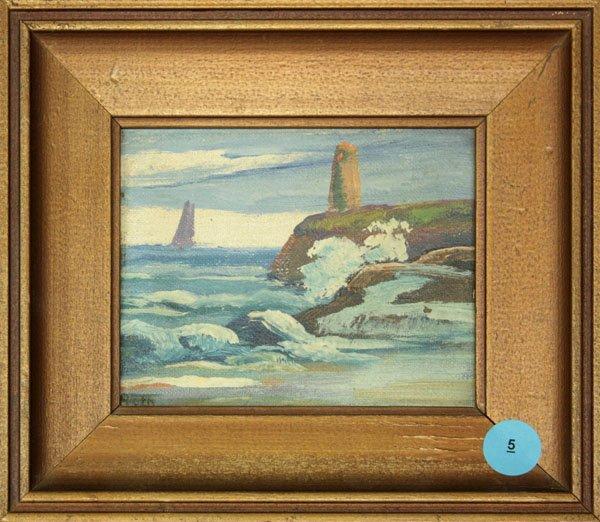 5: Painting, Ocean scene, Henry Roth