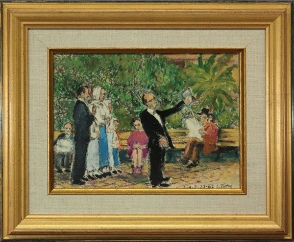 9: painting, Los Angeles, 1962, L. Tipton