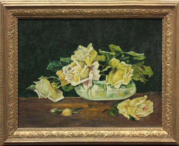 10: painting, Petunias, Elizabeth Jewell