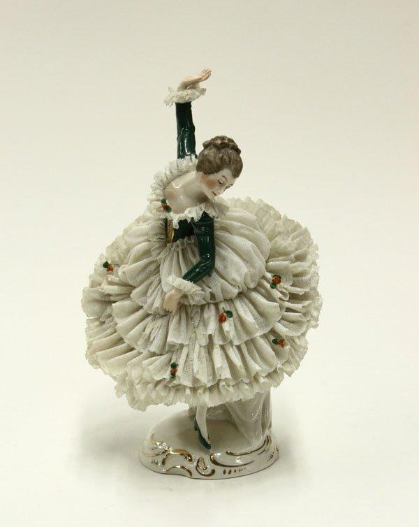 21: German porcelain dancer crinoline