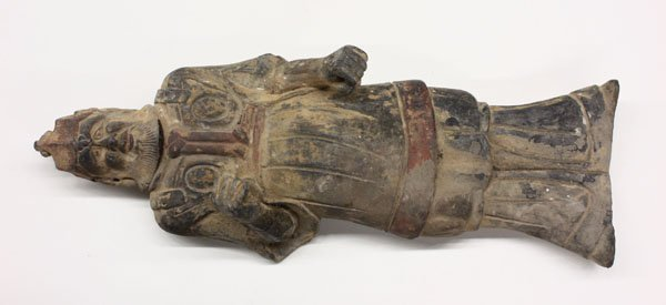 63: Chinese Grey Pottery Warrior Figure