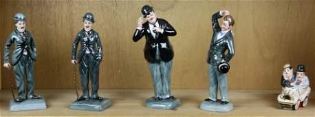 (lot of 5) Four Royal Doulton figures