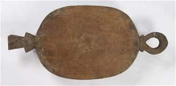 Melanesia carved wood food bowl