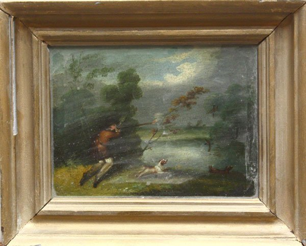 6002: Paintings, Hunting, 19th century