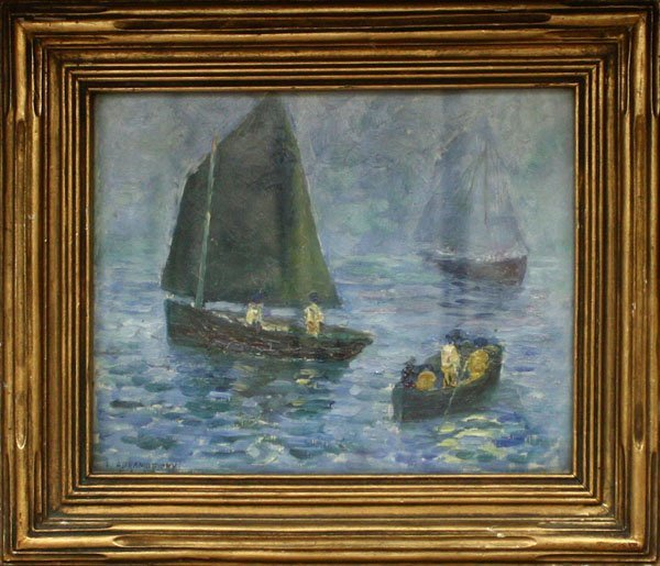 6006: Painting, Abramofsky, Nautical, Boats