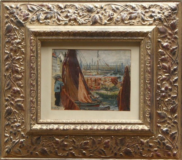 6010: Painting, Harbor, 20th century