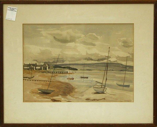 4001: Watercolor, Wilson, Coastal Landscape