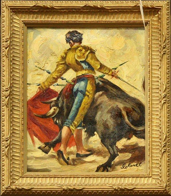4011: Painting, Bullfighter, Spanish