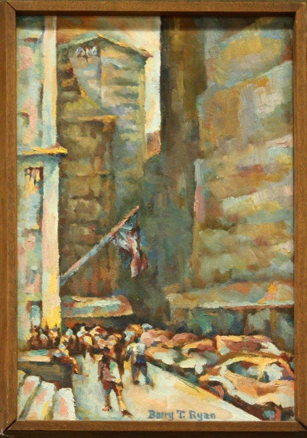 4012: Painting, Barry Ryan, Urban Scene