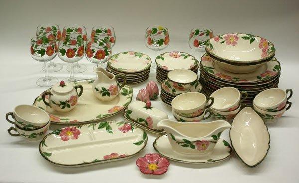 4013: Franciscan ''Dessert Rose'' table ware