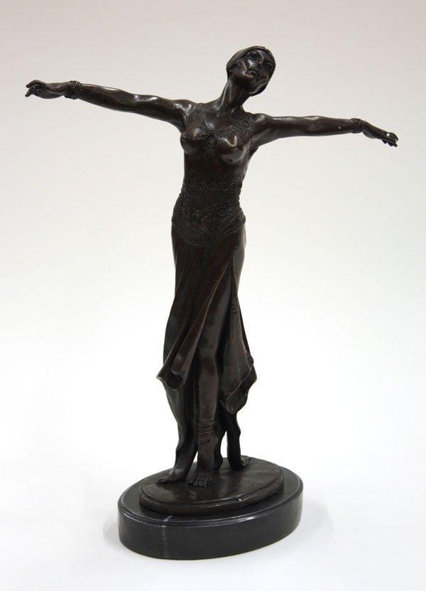 4016: Bronze Art Deco Dancing Girl