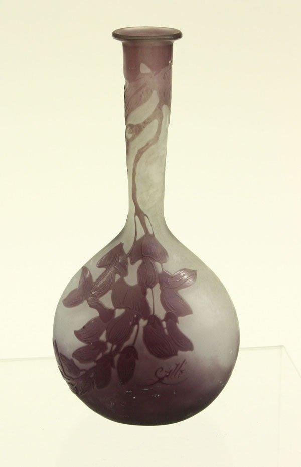 4021: Galle style stick neck cameo vase