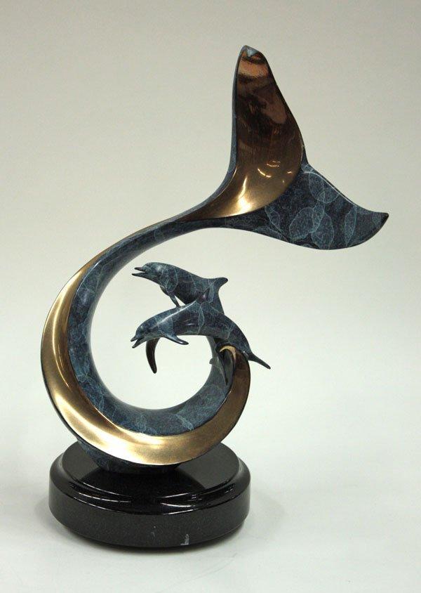 4038: Scott Hanson bronze sculpture