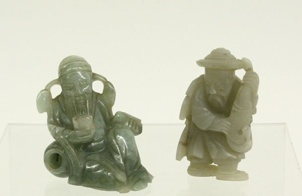 4063: Chinese Jade Figurines, Fisherman/Sage