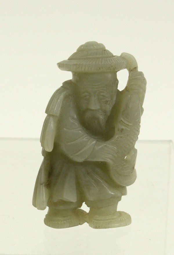 4063: Chinese Jade Figurines, Fisherman/Sage - 4