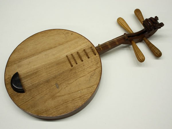4159: Chinese qinqin stringed instrument - 5