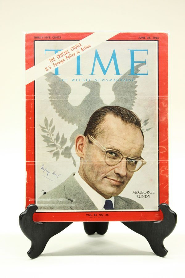 4434: Signed 1960's Time Magazine covers