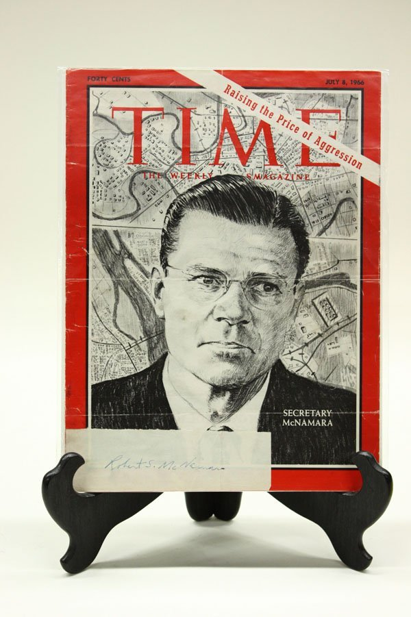 4434: Signed 1960's Time Magazine covers - 2