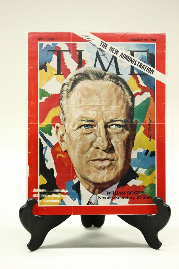 4434: Signed 1960's Time Magazine covers - 4