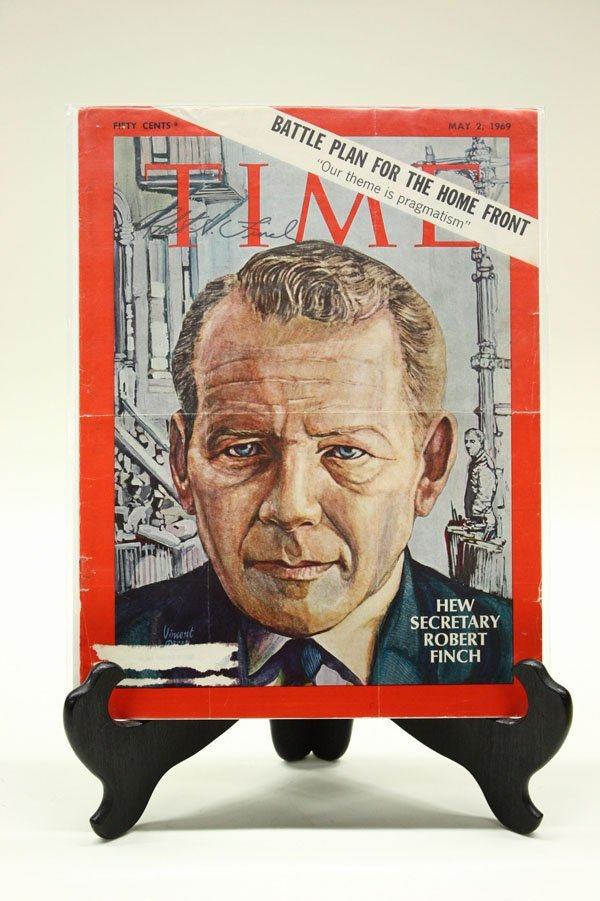 4434: Signed 1960's Time Magazine covers - 5