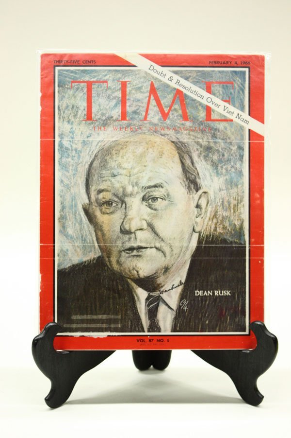 4434: Signed 1960's Time Magazine covers - 6