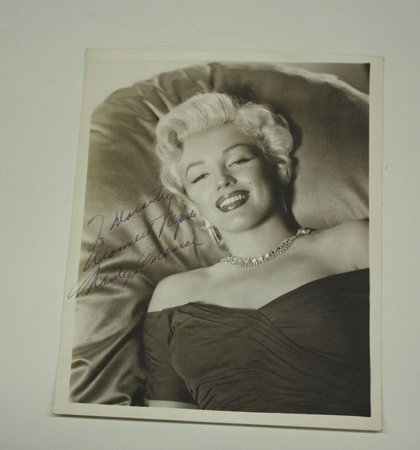 4455: Signed Photograph of Marilyn Monroe