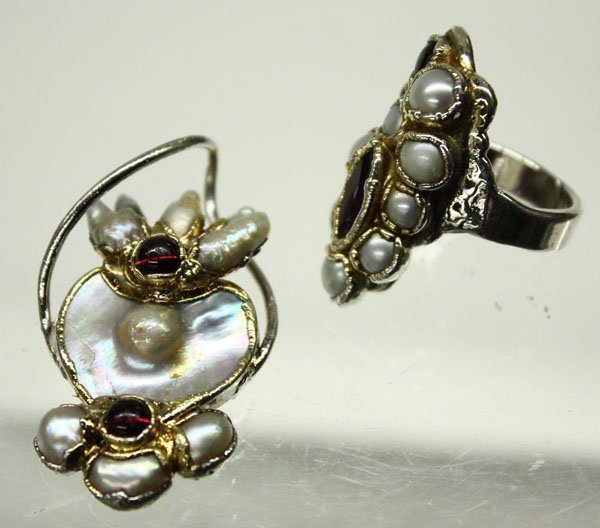 4488: silver ring and pendant by Steven Ruse - 2