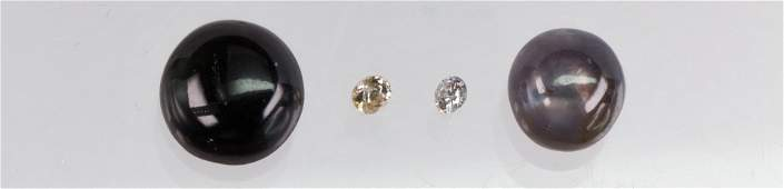 Collection of unmounted diamonds and sapphires
