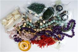 Collection of multi-stone bead, gold, metal jewelry