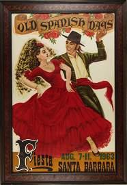 Poster, Old Spanish Days, Fiesta, Santa Barbara